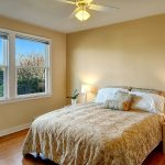 Another generously-sized east bedroom, also facing north,