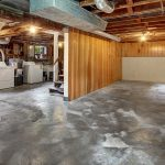 The unfinished basement offers good ceiling height and tons of space for storage and future possibilities.