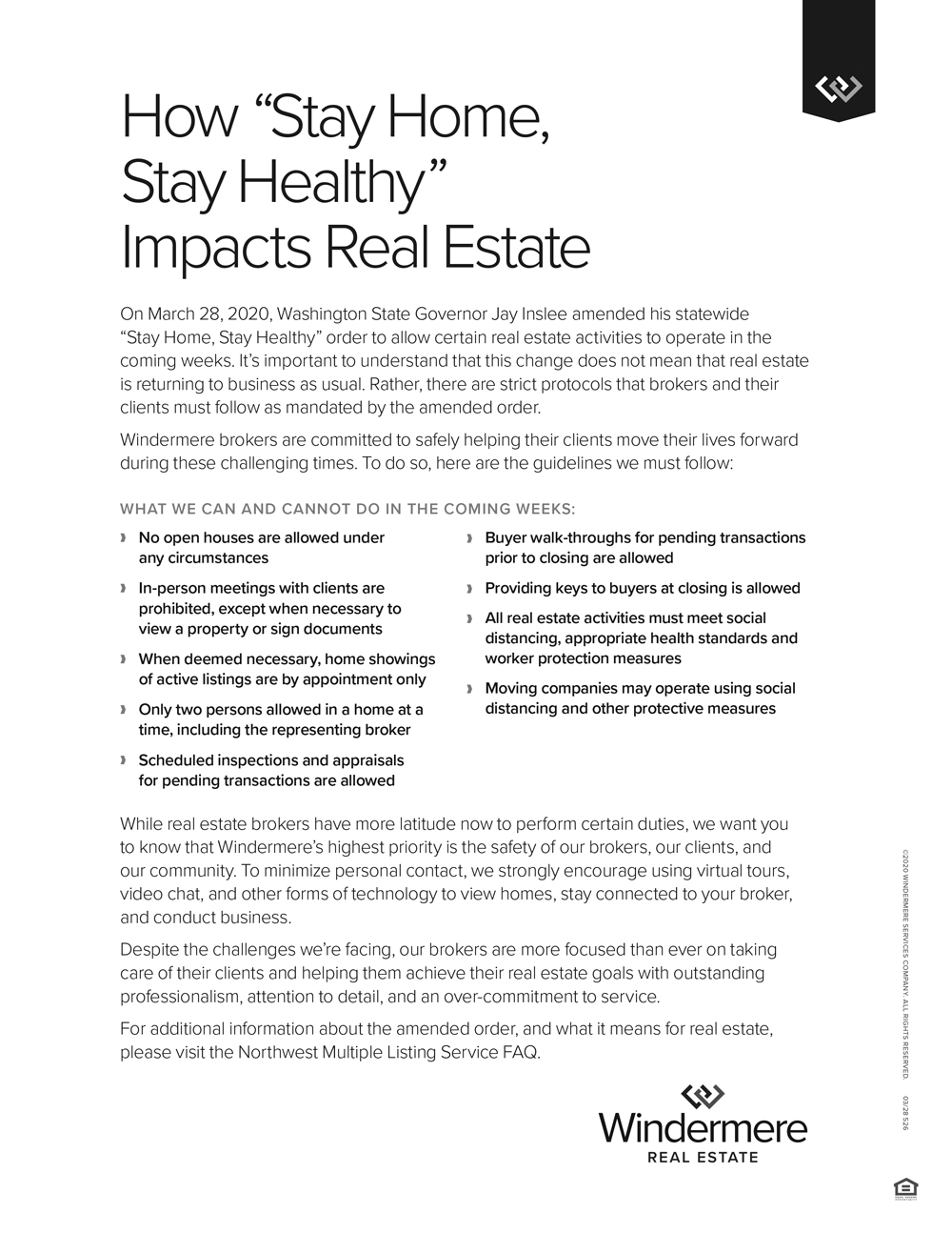 """How """"Stay Home Stay Healthy"""" Impacts Real Estate"""