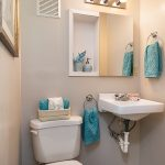 This is the 3rd bedroom/office space powder room.