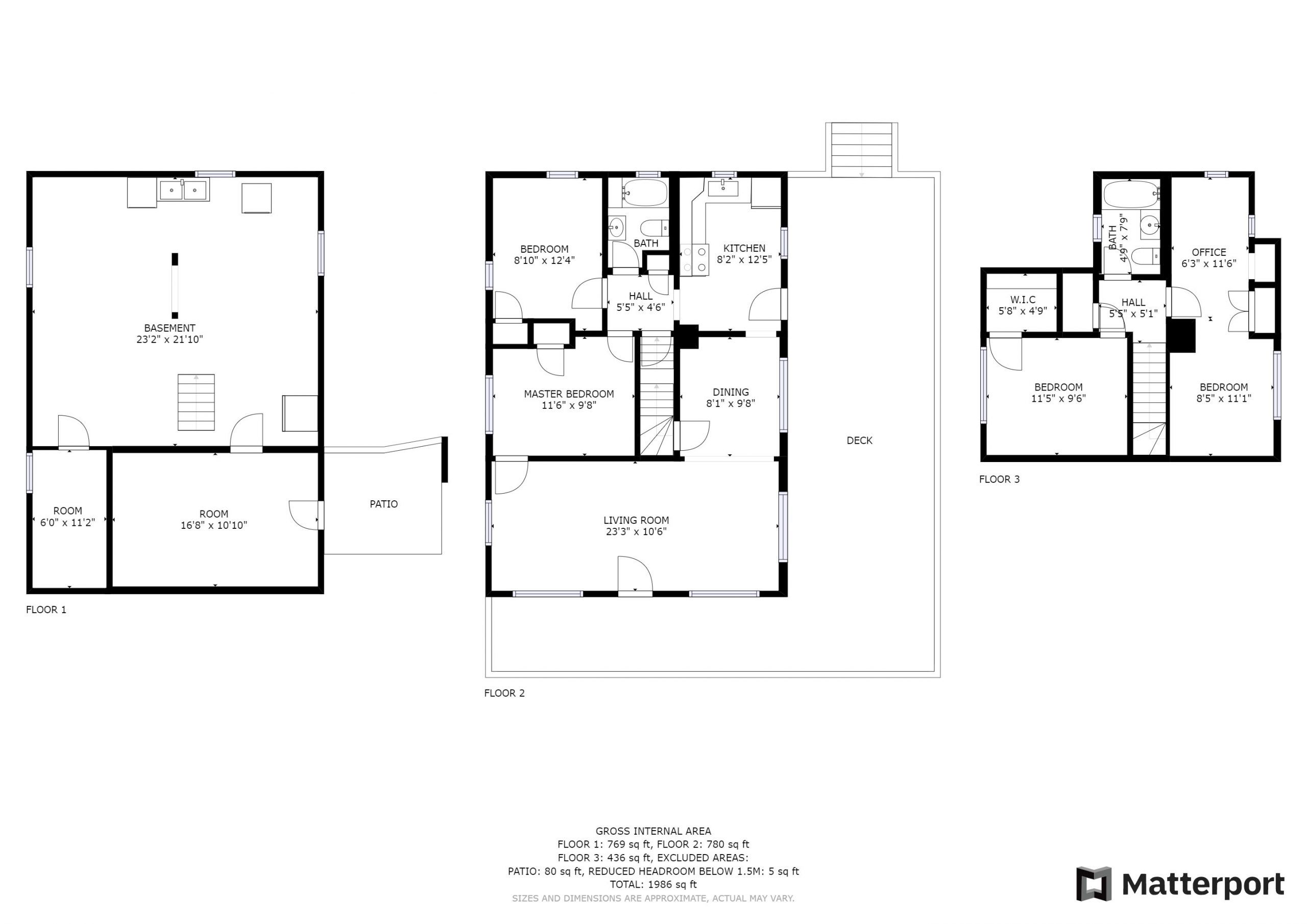 Floorplan & Approximate Dimensions - Matterport