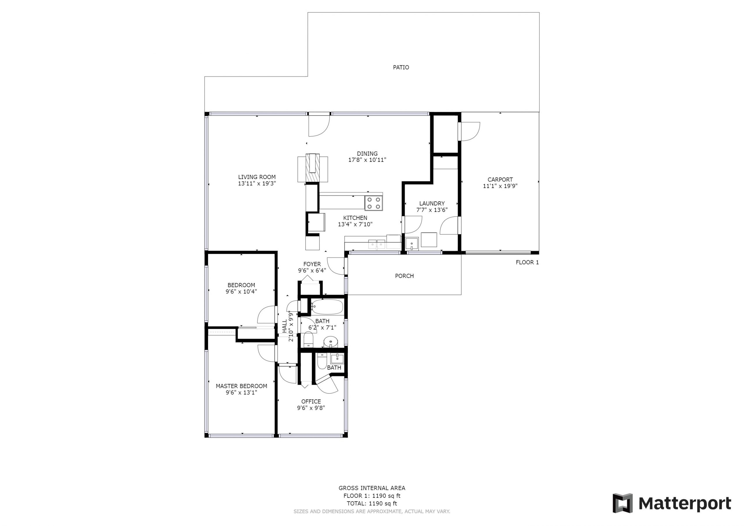 Floorplan & Approximate Room Measurements_Matterport