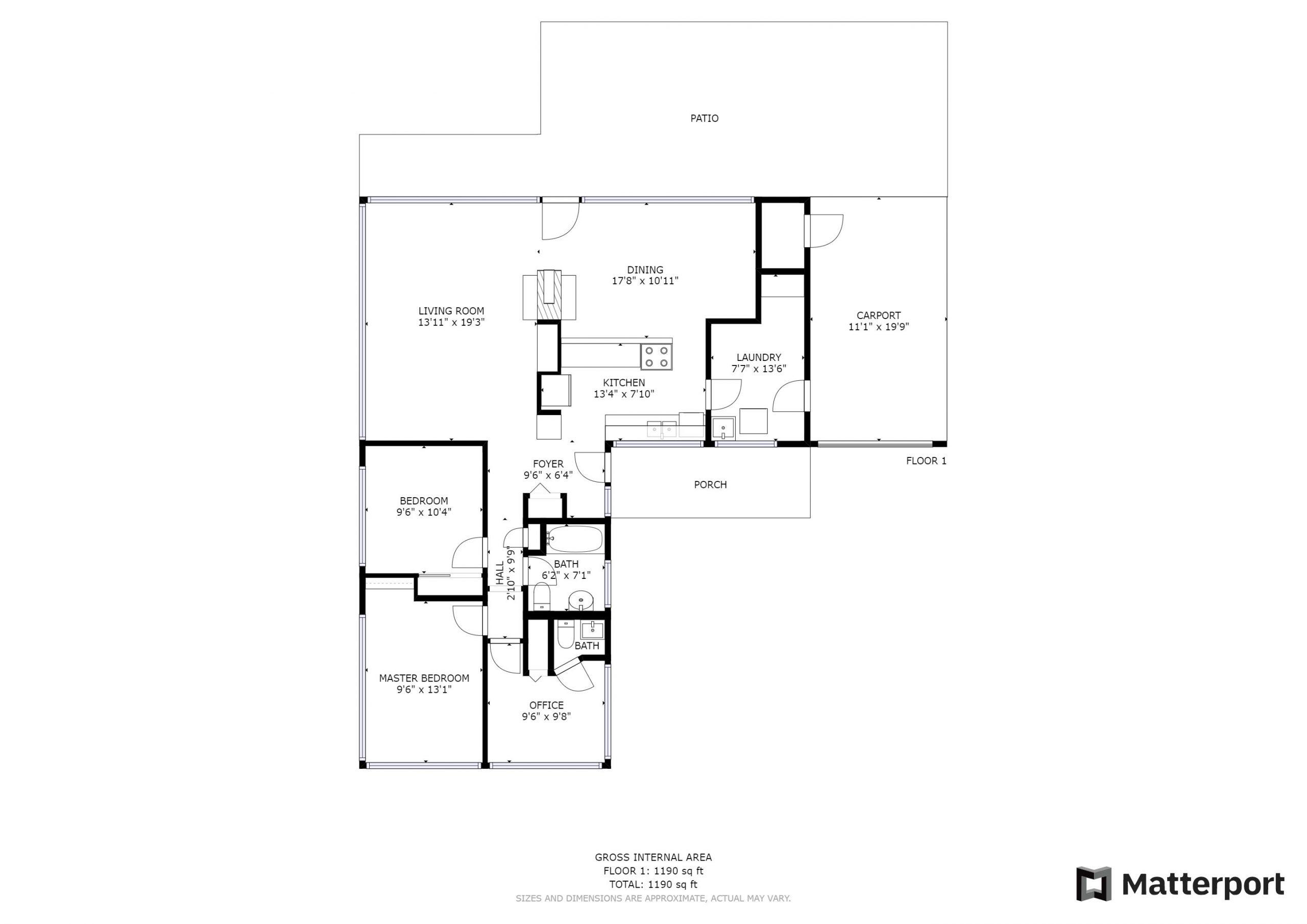 Floorplan & Approximate Room Measurements_Matterport