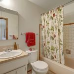 The master bathroom has a window for plenty of light.