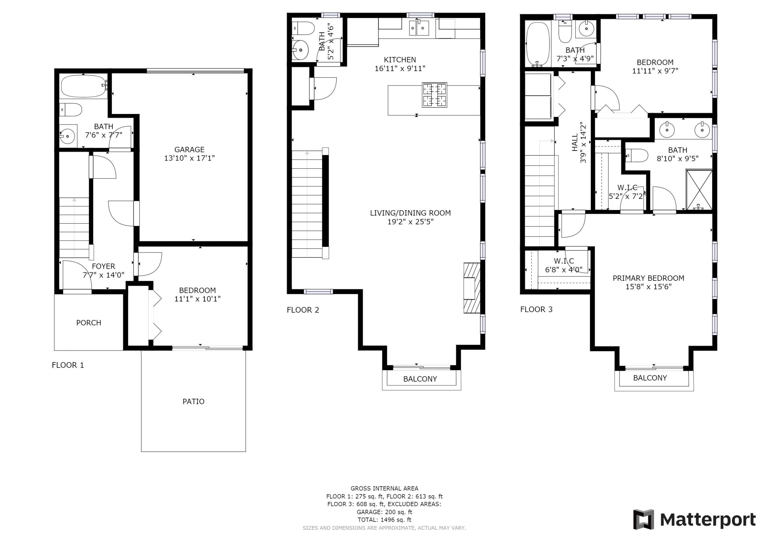 Floorplans - All On 1 Page